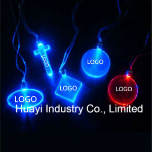 Customized Logo LED Glowing Crystal Necklace pictures & photos