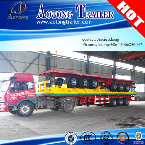 3 Axle Flatbed Container Semi Trailer for Sale pictures & photos