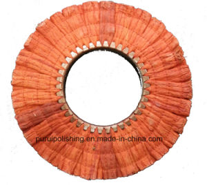 Red Medium Hard Finger Sisal Polishing Wheel for Stainless Steel pictures & photos