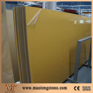 Beige Color Quartz Slab with Glass pictures & photos
