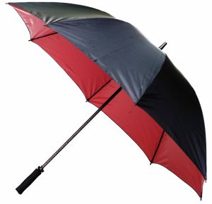 Beautiful Color Golf Umbrella with Manual Open Fibreglass Shaft for Promotion (75G276)