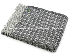 100%Woolen Wool Travel Picnic Throw pictures & photos