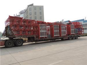 Ce Passed 2t Double Cage Hoist Lift Construction Elevator pictures & photos