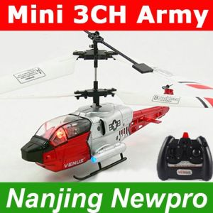 Mini 17cm 3-Channel Infrared Control RC Army Helicopter with 4LED lights+3 Bands (NP0437)
