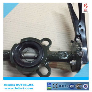 DK WAFER BUTTERFLY VALVE WITH HANDLE OR GEAR WORM BCT-DKD71X-4 pictures & photos