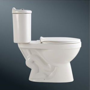 Best Price White Colored Two-Piece Toilet Bowl pictures & photos