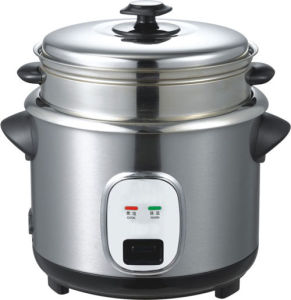 Straight--Steel-Housing Electric Rice Cooker, Without/With Steamer. Model R-14
