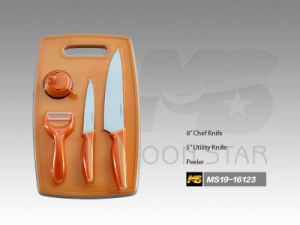 Cutting Board Series Kitchen Knife, with a Peeler (MS19-16123)