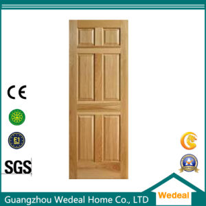 Wooden Veneer Raised Six Panel Classical Rail and Stile Door pictures & photos