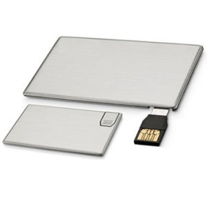 Metal Credit Card USB Flash Drive, USB 2.0