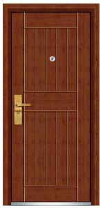 Exterior Steel Wooden Door (FXGM-C321) pictures & photos
