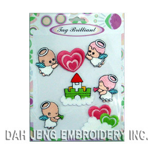 Sweet Angels Embroidered Sticker Pack pictures & photos