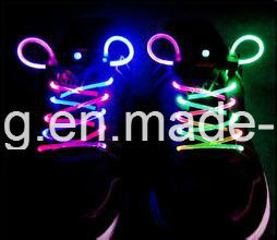 Colorful Custom Shoelaces LED Light up Shoestring pictures & photos