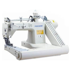 Three Needle Feed-off-The-Arm Chain Stitch Sewing Machine pictures & photos