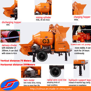 Electric Concrete Mixer Pump 18m3/H Output