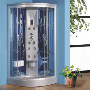 Colorful Corner Design Electric Shower Cabin with Foot Massage pictures & photos