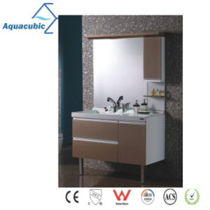 Classic Wood Mirrored Bathroom Cabinet (AME097) pictures & photos