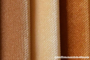 Brushed Velour Upholstery Decorative Fabric for Sofa pictures & photos