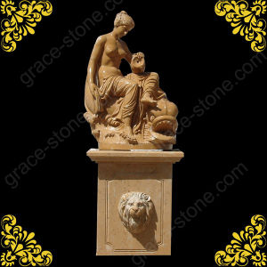Carved Stone Sculpture for Mother and Son pictures & photos