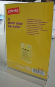 Display Stand Double Sides Sign Holder (DW-SH) pictures & photos