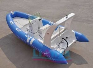 Rigid Hull Fiberglass Inflatable Fishing Boat pictures & photos