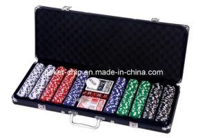 500PCS Poker Chip Set in Black Color Aluminum Case pictures & photos