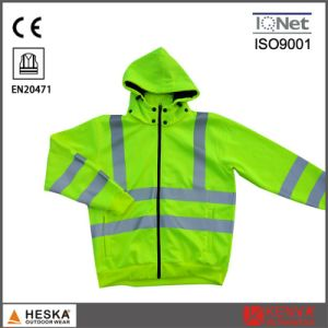 Hot Selling Working Yellow Color Hi Vis Sweater Jacket pictures & photos