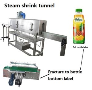 Full Label Sleeve Label Steam Shrink Tunnel for Chemical Bottle pictures & photos
