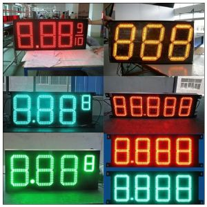 "Outdoor Waterproof 10"" 8.889 16mm Pixel Green LED Gas Price Signs Digital for Gas Station pictures & photos"