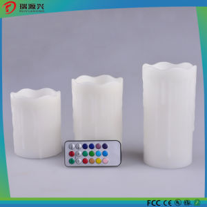 3PCS Set LED Candle Light White Pillar Light No Drips pictures & photos