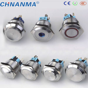 22mm Power Symbol Selflock Push Button Switch pictures & photos