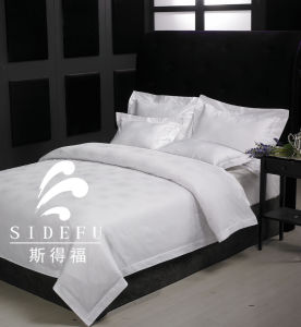 2017 New Style Jacquard High-Star Hotel Bed Linen Bedding Set for Wholesale pictures & photos