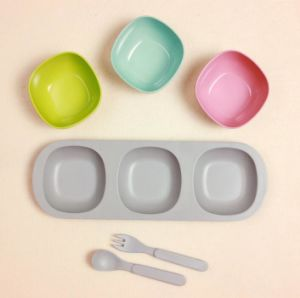 BPA Free Bamboo Fiber Tableware Dinnerware Set for Kids (YK-T7013) pictures & photos