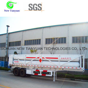 8 CNG Jumbo Tubes CNG Cylinder Container Semi Trailer pictures & photos