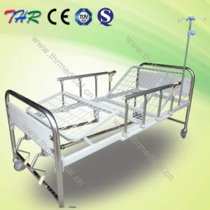 Thr-MB242 2-Crank Stainless Steel Manual Hospital Patient Bed pictures & photos