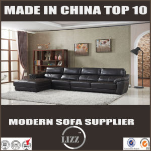 L Shape Leather Couch with Black Color pictures & photos