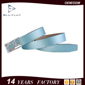 Fashion Genuine Cowhide Leather Men′s Belt pictures & photos