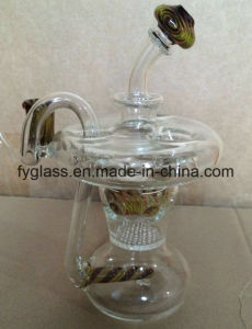 Handblown Borosilicate Recycler Glass Smoking Water Pipe pictures & photos