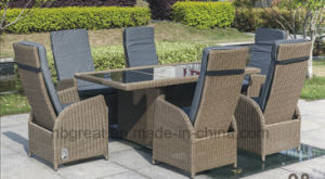 Outdoor Rattan Dining Table Furniture Set, The Best Sofa for Sex Glass pictures & photos