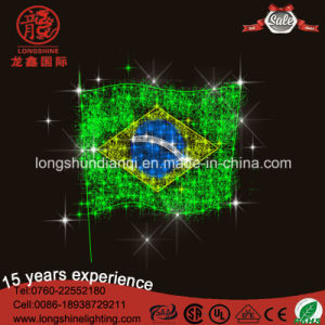 LED 220V 24vnational Flag String Rope Pole Light for Holiday Decoration. pictures & photos