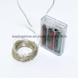 Timer 3AA Battery Powered LED Fairy String Light for Christmas Gifts pictures & photos