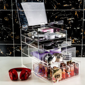 Wholesale Custom Black Acrylic Makeup Organizer with Logo pictures & photos