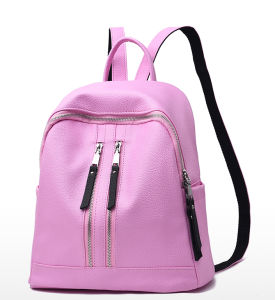 Fashion Style Simple Travel Bag School Bag PU Backpack pictures & photos