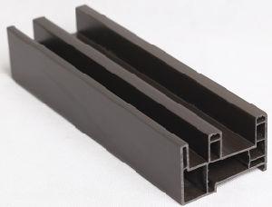 Sliding Series UPVC Profile Plastic Window Framed Steel Reinforcement Glass Door pictures & photos