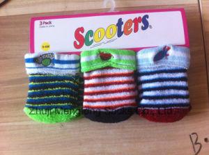 Cute Winter Newborn Cotton Socks Baby Cushion Socks with Embroidery