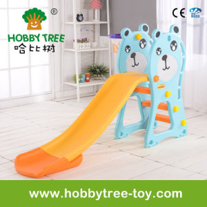2017 Bear Style Cheap Small Plastic Kids Slide (HBS17021D)