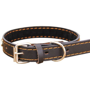 Soft Leather Pet Dog Collar (c006) pictures & photos
