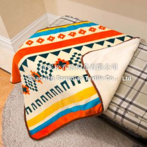 Printed Coral Fleece with Shu Velveteen Baby Blanket / Sherpa Baby Blanket pictures & photos