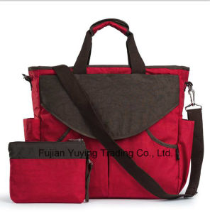 Two Colours Multifunction Mom Bag with Big Capacity Volume pictures & photos