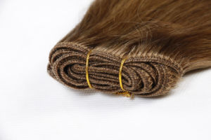 Premium Quality 100% Human Hair Extension Real Remy Hair Silky Straight Weaving 16inch Brown Color pictures & photos